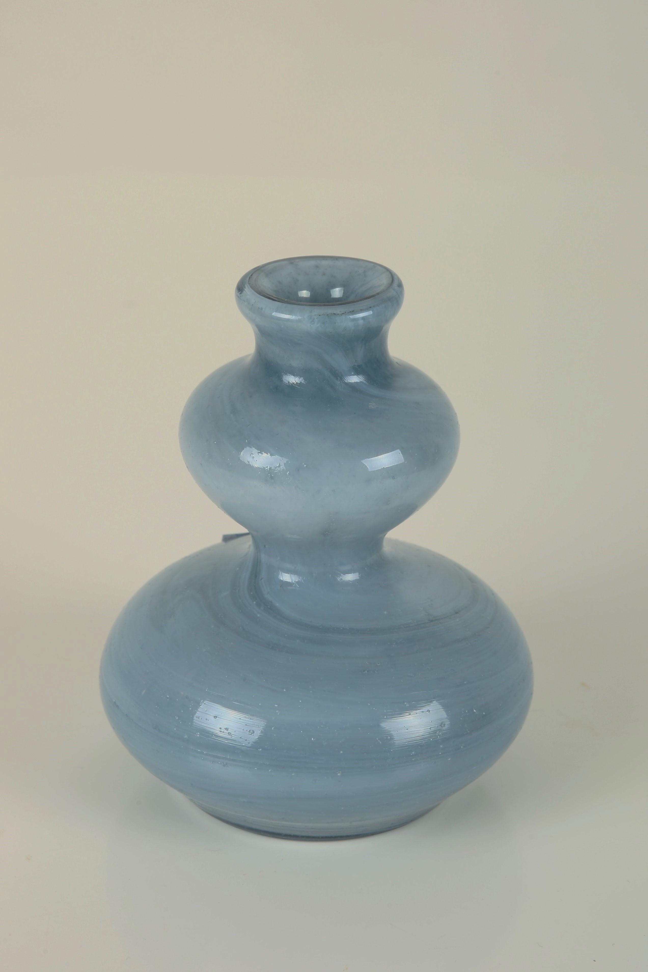 39 blue lava 39 glass vase candle holder by per lutken for. Black Bedroom Furniture Sets. Home Design Ideas