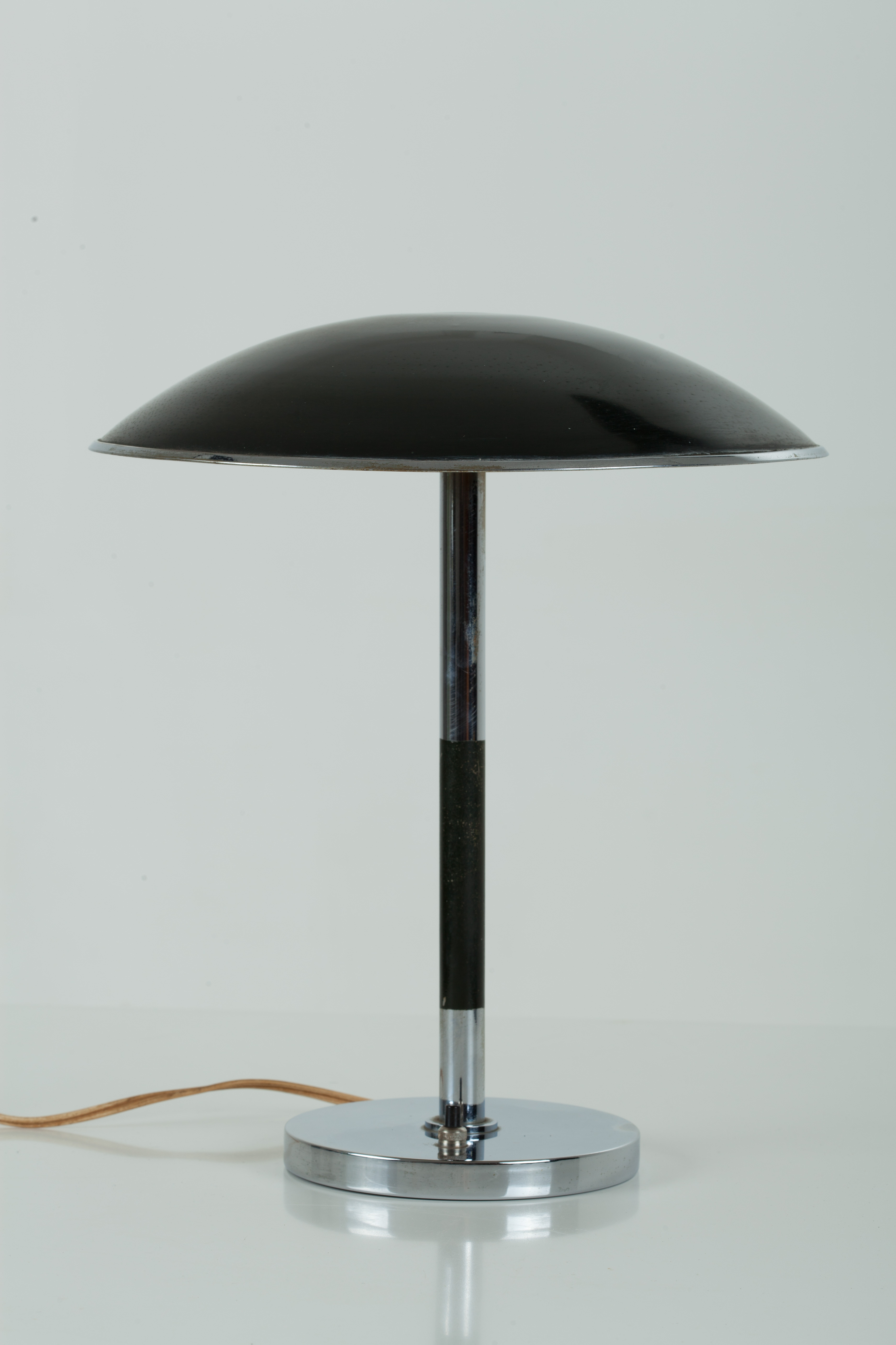 Black Amp Chrome Metal Desk Table Lamp Simply Danish